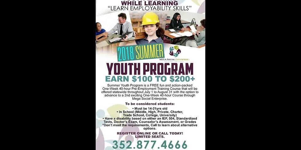 2018 Summer Youth Program