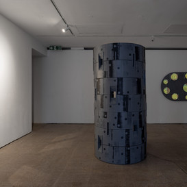 Defence (2020), 100 x 200 x 100 cm, mixed media. Image courtesy Jules Lister