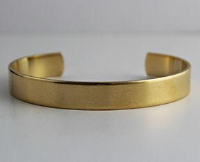 Raw Unfinshed Brass Cuff Bracelet