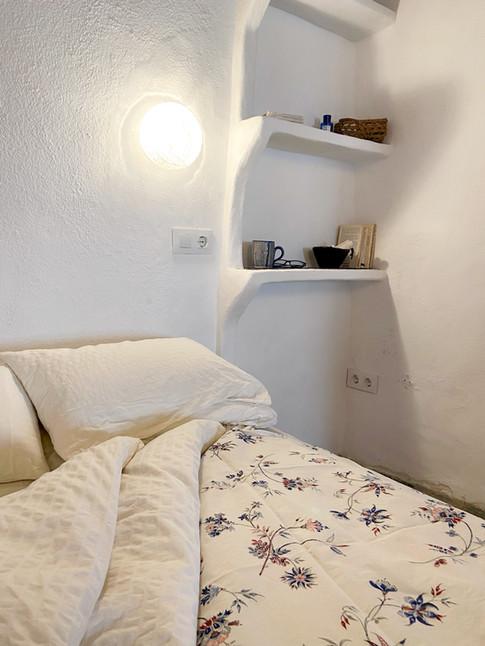 Cortijo el Grillo. Dormitorio añil