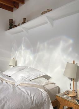 Cortijo el Grillo. Dormitorio blanco