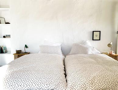 Cortijo el Grillo. Dormitorio ocre