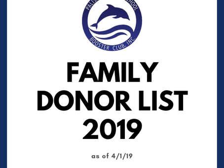 Booster Club Donor List