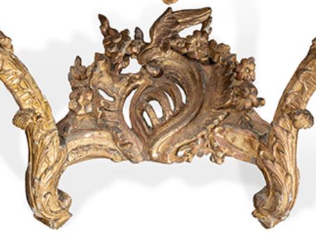 Magnifique console en bois doré d'Epoque Louis XV - Vendu 4 500 €