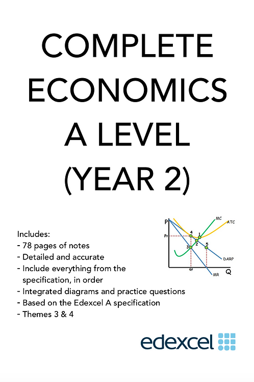 EDEXCEL A LEVEL COMPLETE NOTES (Year 2 Content Micro and Macro)