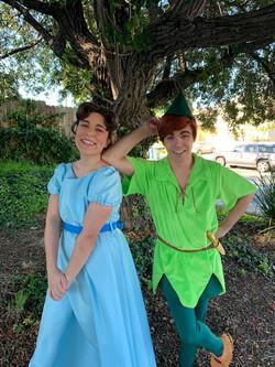 Rylee as Wendy & John as Peter Pan