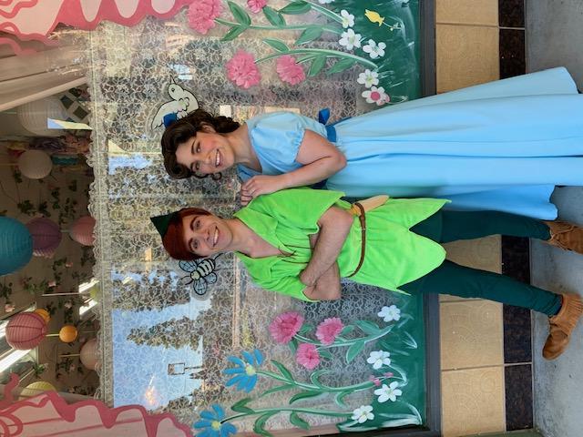 John as Peter Pan & Rylee as Wendy