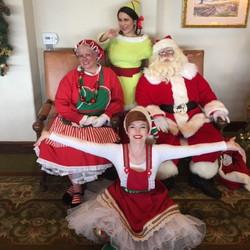 Rylee & Mai as Elves Craig as Santa