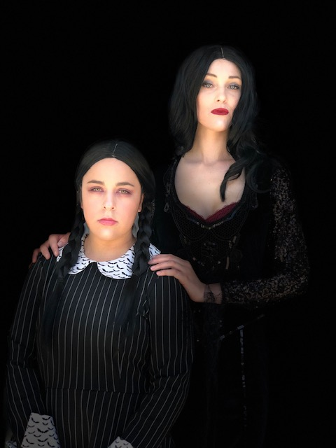 Rylee & Mira as Addams Family