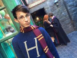 Aidan as boy wizard