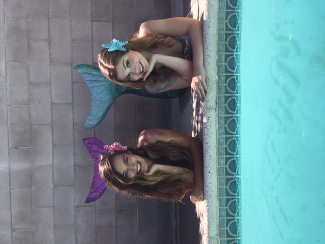 Sara M & Sara B as Mermaids