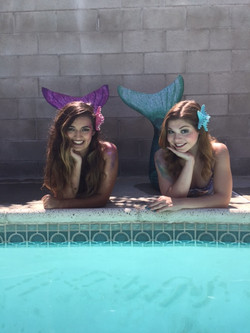 Sara M & Sara B as Mermaids