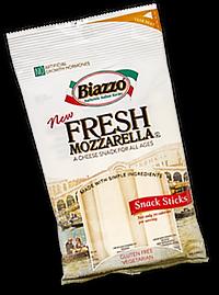 Biazzo Fresh Mozzarella Snack Sticks