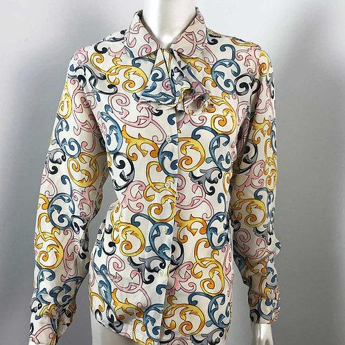 Vintage Select by Elite Blouse en Soie - Medium/Large