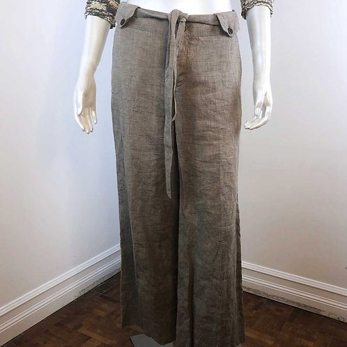 Pantalon en Lin Beige - Medium