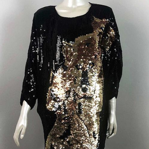 Top Paillettes Vintage 1980's Ann Green - Medium