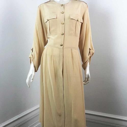 Robe Vintage 1980's Beige - Large