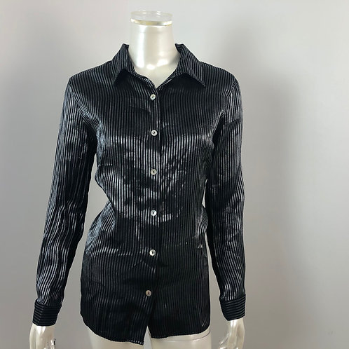 Blouse noir rayée - Collection  Reed Large