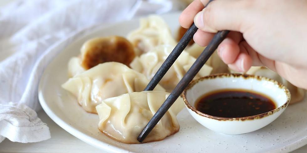 5:30pm-6:30pm, Asian Veggie and/or Pork Dumplings