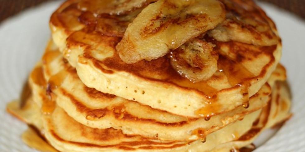 11am-12pm, Banana Walnut Pancakes