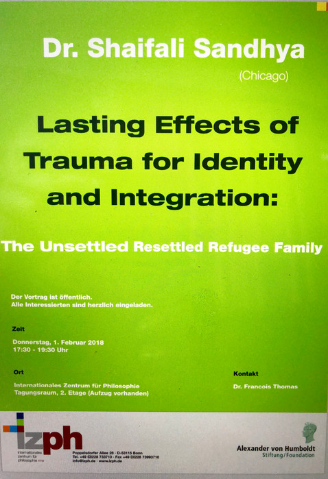 Lasting Effects of Trauma for Identity and Integration: The Unsettled Resettled Refugee Family