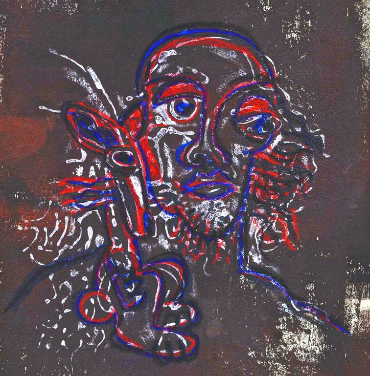 des Künstlers Hase