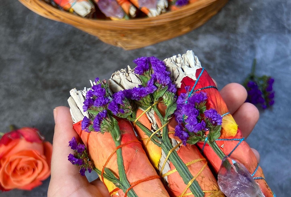 Small Floral Sage smudging Stick