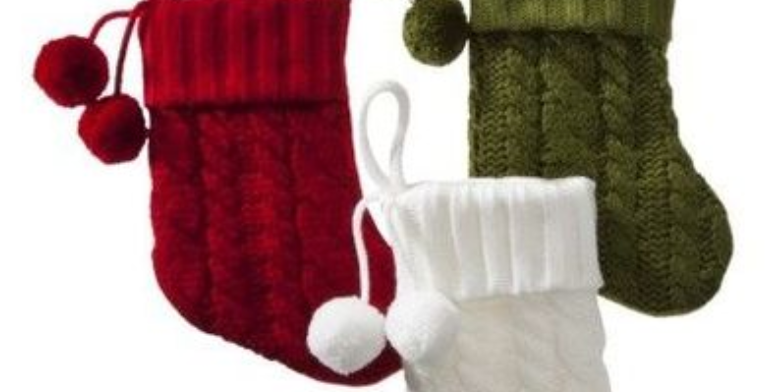 Cable Knit Mini Stocking Holiday Add-on