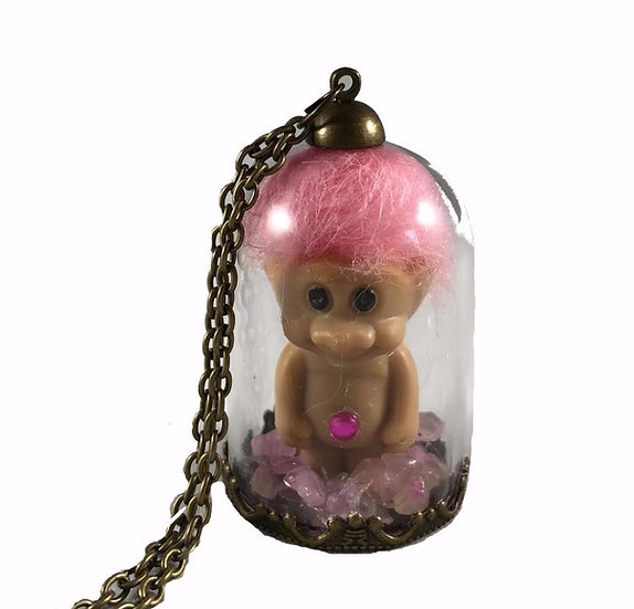 Troll-in-a-Dome Necklace