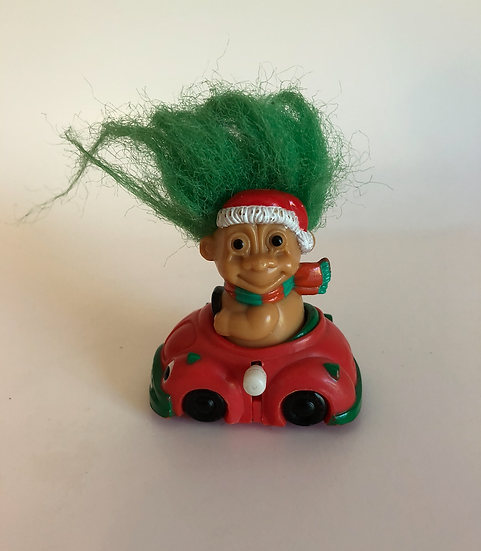 Driving Christmas Troll Toy