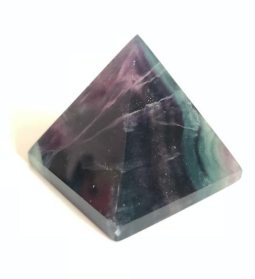 "Fluorite Pyramid 2.5"""