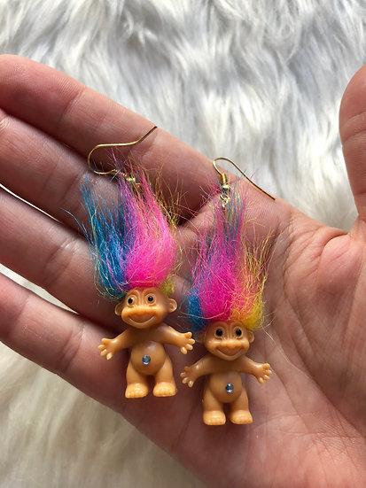 Rainbow Troll Earrings