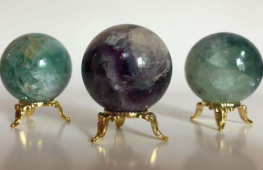 """Purple Fluorite Sphere 2"""""""
