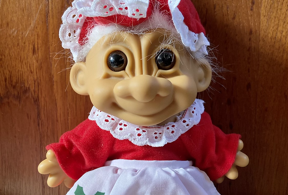 Giant Mrs. Claus Vintage Troll