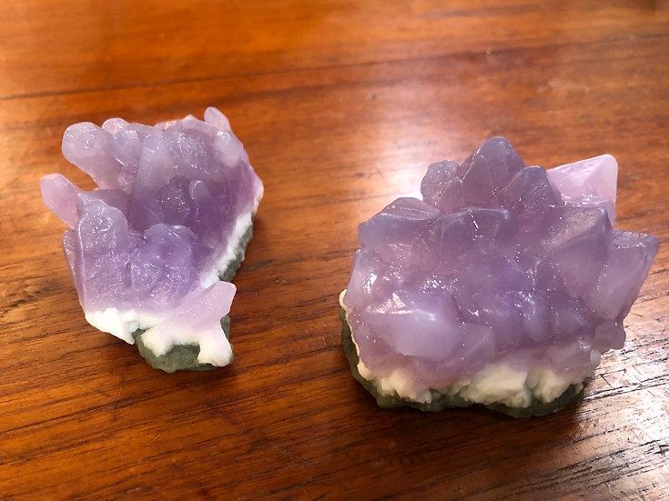Amethyst Crystal Soap Cluster