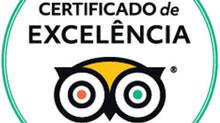 CERTIFICADO DE EXCELÊNCIA TRIPADVISOR 2018