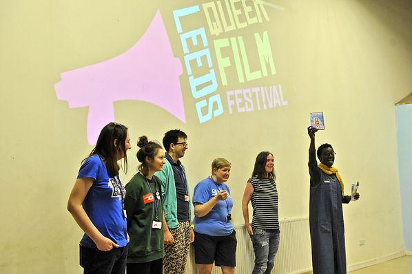 Six members of the Leeds Queer Film Festival Organising Team
