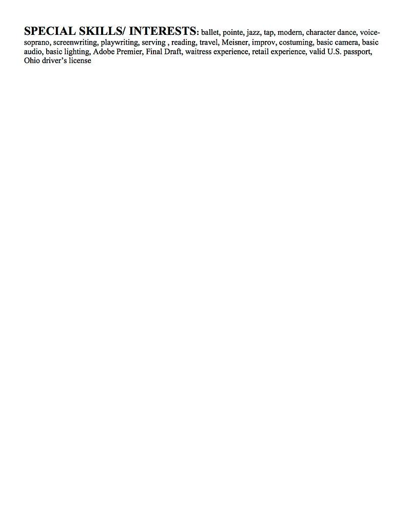 resume 2010 present