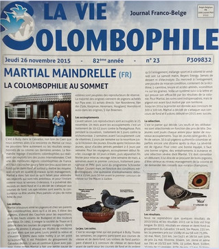 """Article 'La Vie Colombophile"""""""
