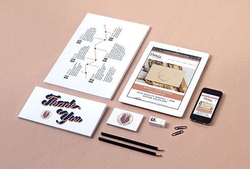 Chels Aps Visual Branding Suite Graphic Design Thank You card iphone ipad mobile design infographic business card eraser sienna