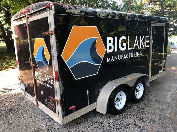 Big Lake Manufacturing chels aps graphic design logo design modern design hamilton graphic designer trailer design