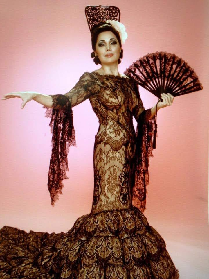 The Faena Follies, Black Lace Dress, Press Photo
