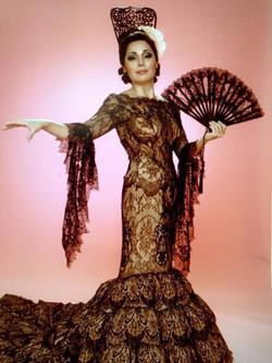 The Faena Follies, Black Lace Dress, Press Photo