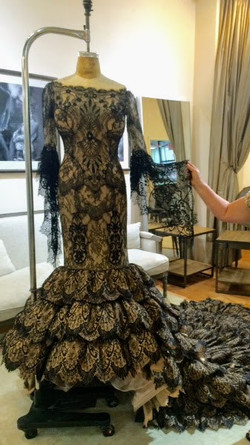 The Faena Follies, Black Lace Dress