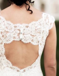 Back of Rosie Mattia's Wedding Dress