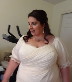 Heather Tianello Wedding Dress close up