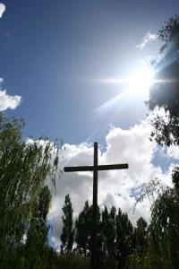 crosses sky