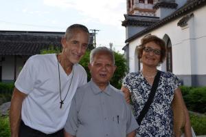 Andy and Jeanie with Priest at Zhujiajiao Catholic Church