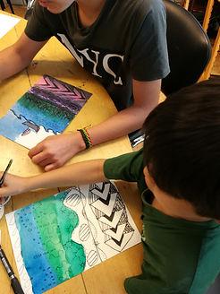 ukentlg kurs for barn i kunst, kreative barn