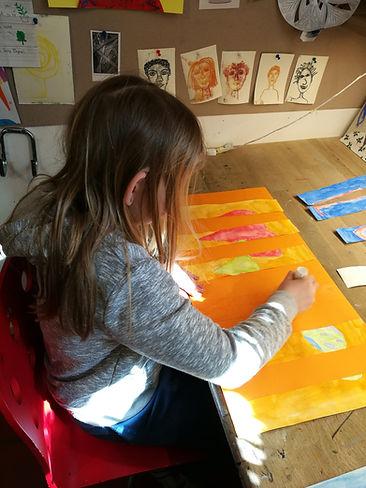 printmaking for kids, painting, drawing, tegning, kurs barn, kreative